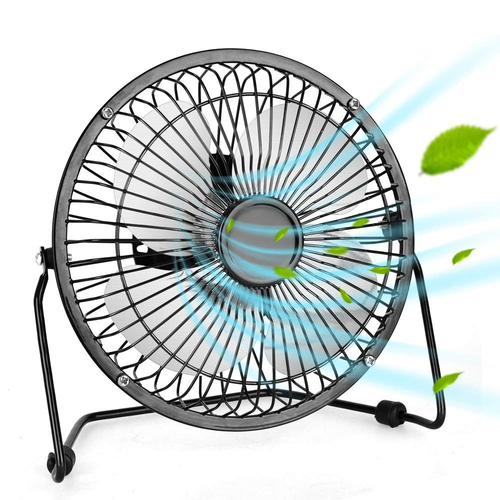 Portable USB Fan - Personal Desk Fan with 1.4m USB Cable, 6 Inch Mini Fan USB Fans for Desk, Quiet and Powerful, Perfect Office Fan USB Personal Fan for Home & Office in Hot Summer Days by TRUSTECH