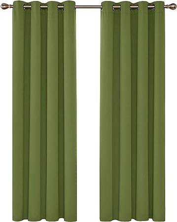 Deconovo Blickdichte mit /Ösen Dekorationsstil Kinderzimmer Gardinen 214x203 cm Beige 1 St/ück
