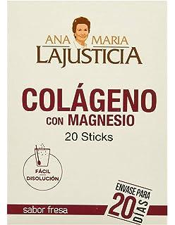 Ana Maria La Justicia - Colágeno con Magnesio, 20 Sticks Sabor Fresa ...