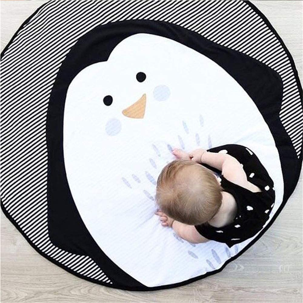 Abreeze Baby Crawling Mat Cute Penguin Play Carpet Children Bedroom Decor Living Room Rug