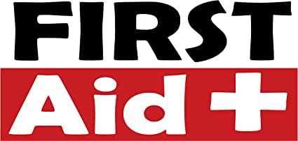 Amazon Com Pre Printed First Aid Banner Red 10 X 5 Health Personal Care
