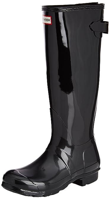 Hunter Original Back Adjustable Gloss Damen Stiefel