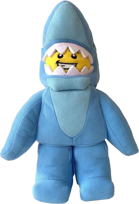 "Manhattan Toy Lego Minifigure Shark Suit Guy 14"" Plush Character"