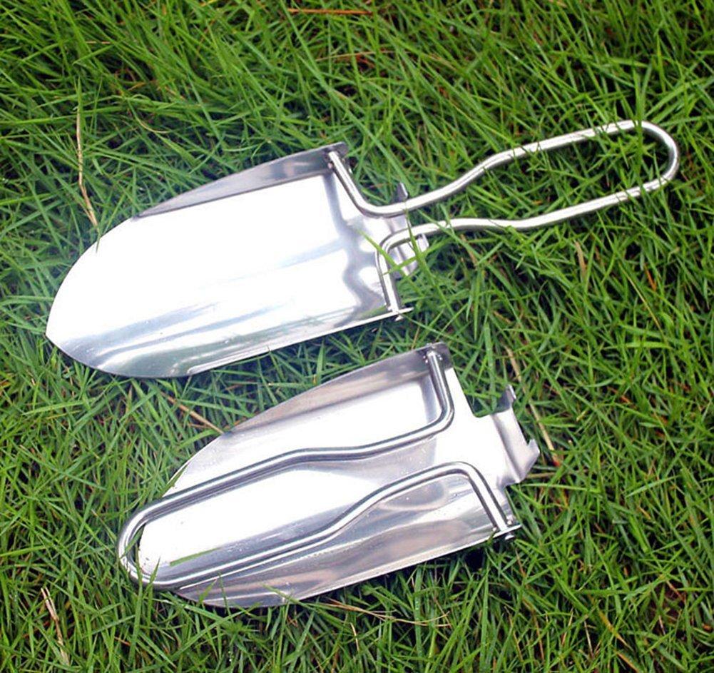 Pflanzwerkzeug Camping und Wandern Outdoor Werkzeuge Taschen Shove STAR SSTO Mini Rostbest/ändige Metall Faltbare Trowel Tragbare Schaufel F/ür G/ärten Schaufel
