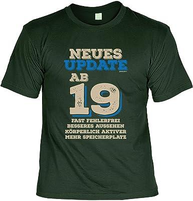 e4c22db964f639 T-Shirt 19 Geburtstag - Geburtstagsshirt Sprüche 19 Jahre : Neues Update ab  19 Fast