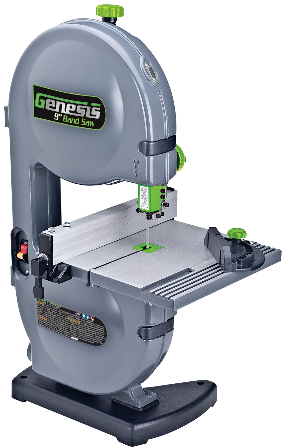 Genesis GBS900 9 2.2 Amp Band Saw with Dust Port, Tilt Table, Miter Gauge, and Rip Fence