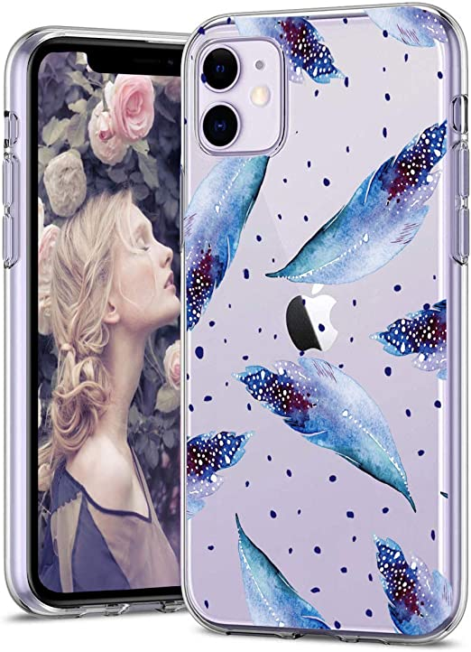 Bslvwg Clear Case For Iphone Xr Flower Floral Flower Pattern Clear