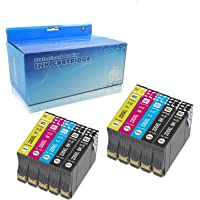 YRSINK 10Pack Generic Ink Cartridges High Yield Replacement for 220 220XL Compatible with Epson XP-220, XP-320, XP-324…