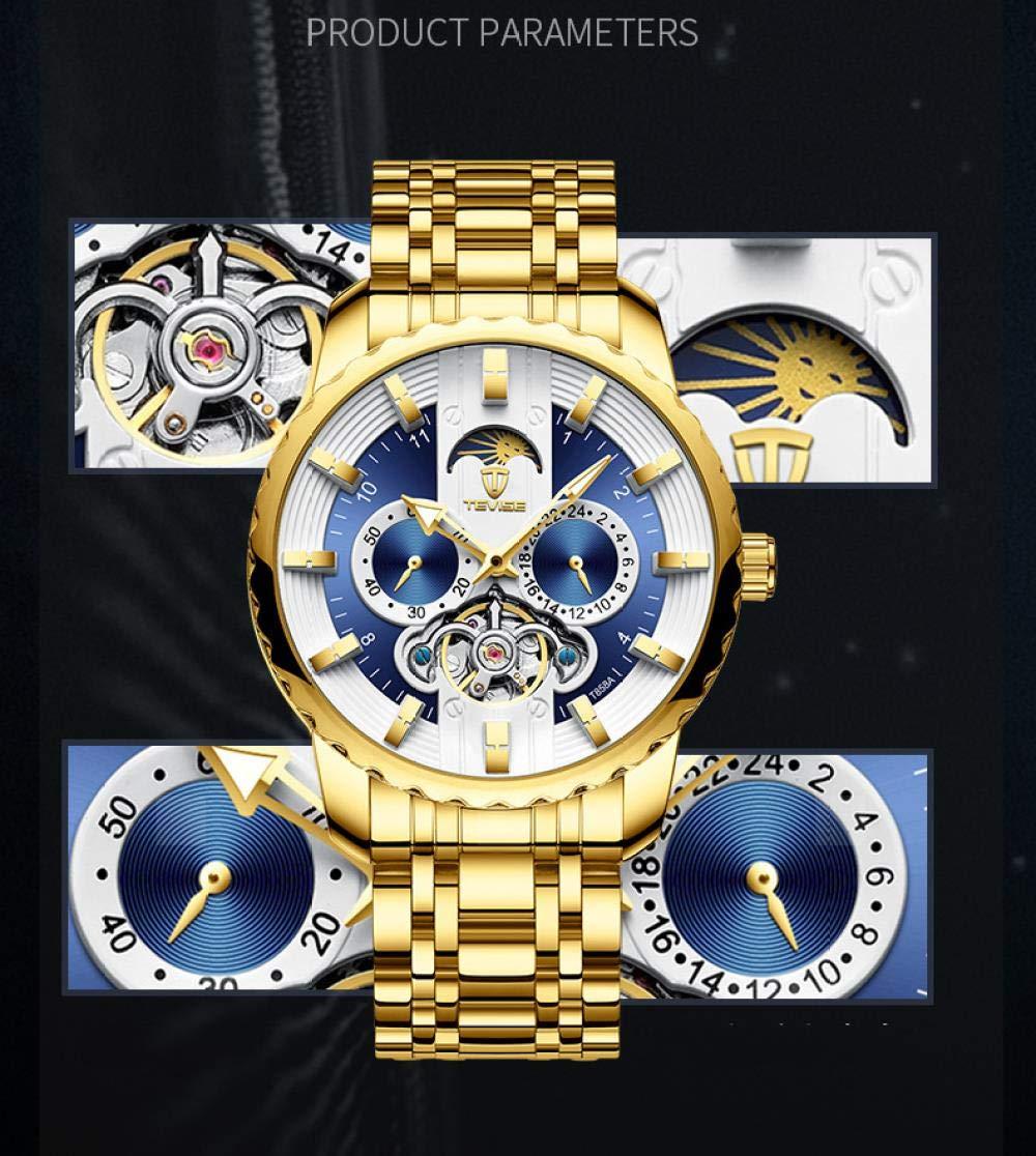 Armbandsur, automatisk mekanisk vattentät klocka Full Gold Black