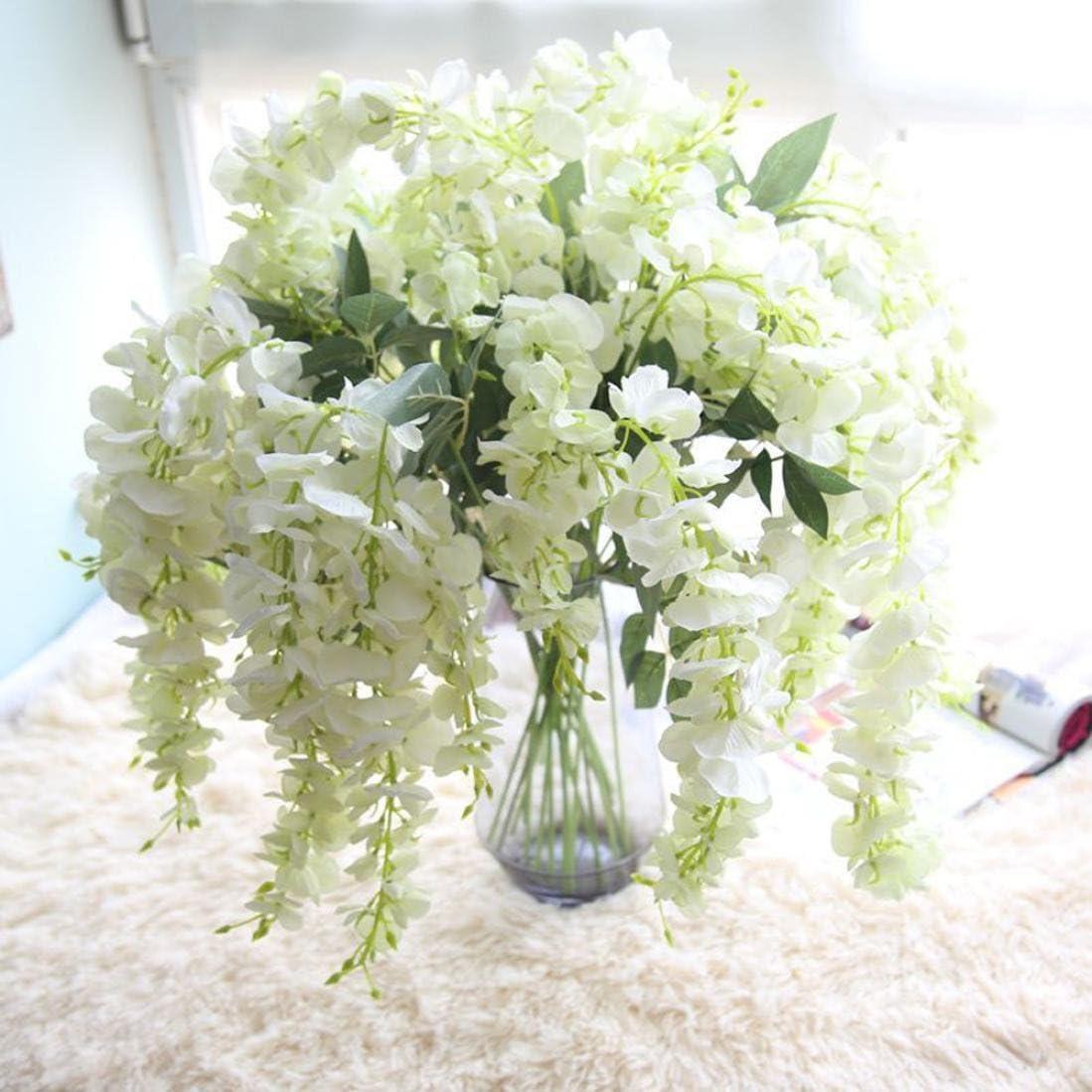 Bouquet Sposa Glicine.Glicine Artificiale Con Fiori Vneirw Festa Di Nozze Bouquet Da