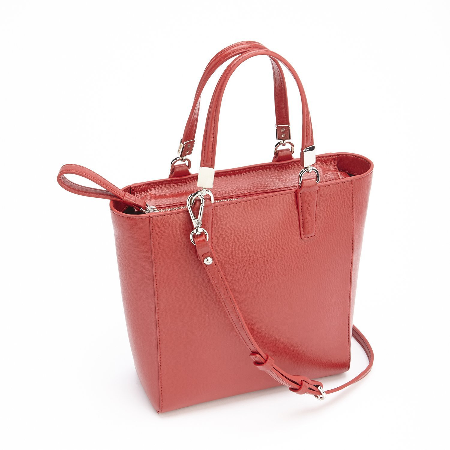 ba60dd78565fe Amazon.com | Royce Leather RFID Blocking Mini Tote Cross Body Bag in Saffiano  Leather Travel, Red One Size | Travel Totes