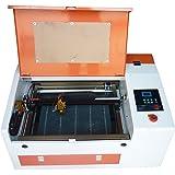 テンハイTEN-HIGH CO2レーザー彫刻機切断機 DIY加工機 300mm*400mm 40W 110V 非金属対応 電動昇降 USBポート付き 必要な付属品一式フルセット