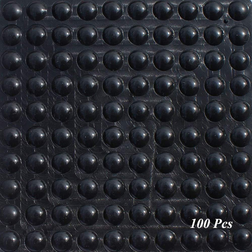 100 piezas, 9 mm x 3 mm, negro, forma hemisf/érica Almohadillas de Pies de Goma SAIYU 100 Piezas Almohadilla de Parachoques Adhesiva de Silicona Parachoques Protector de Pie