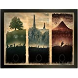 Map Of Middle Earth The Lord Of The Rings Fabric Canvas Cloth Poster Print For Bar Office Room Wall Print Home Decoration 14x17.99inch