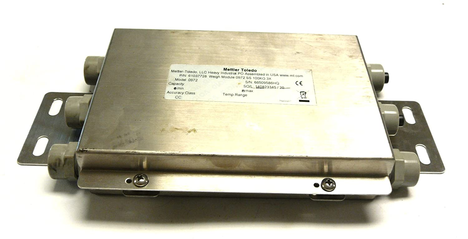 METTLER TOLEDO 61037728 FLEXMOUNT SCALE WEIGH MODULE 0972 SS 100KG 3X: Amazon.com: Industrial & Scientific