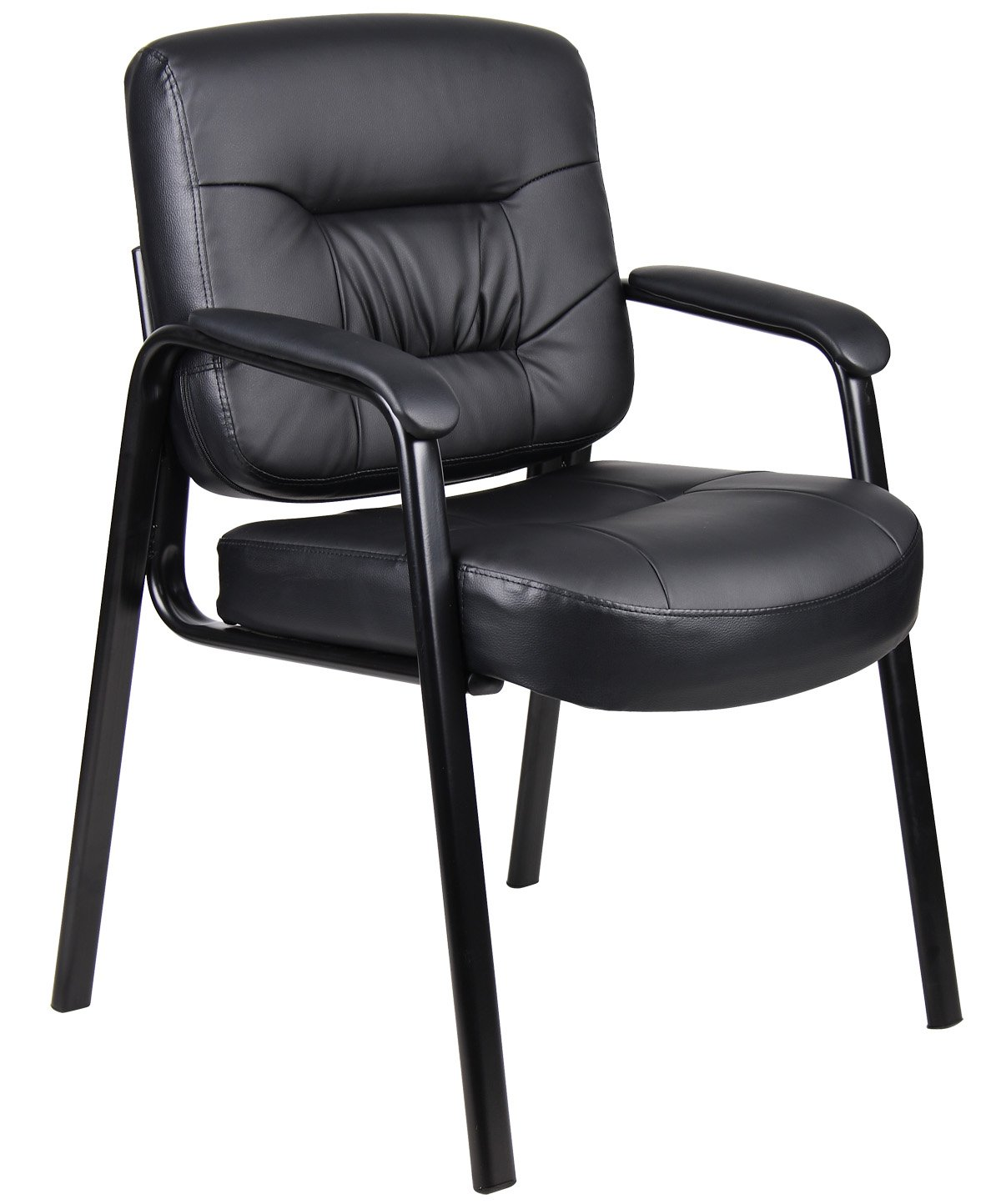 Genial Amazon.com: Boss Office Products B7509 Executive Mid Back LeatherPlus Guest  Chair In Black: Kitchen U0026 Dining