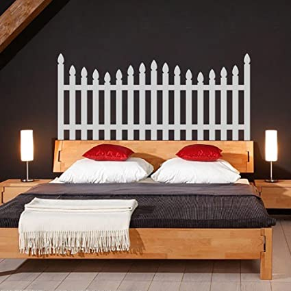 Picket Fence Headboard Decal For Bedroom Decor FLargeBed