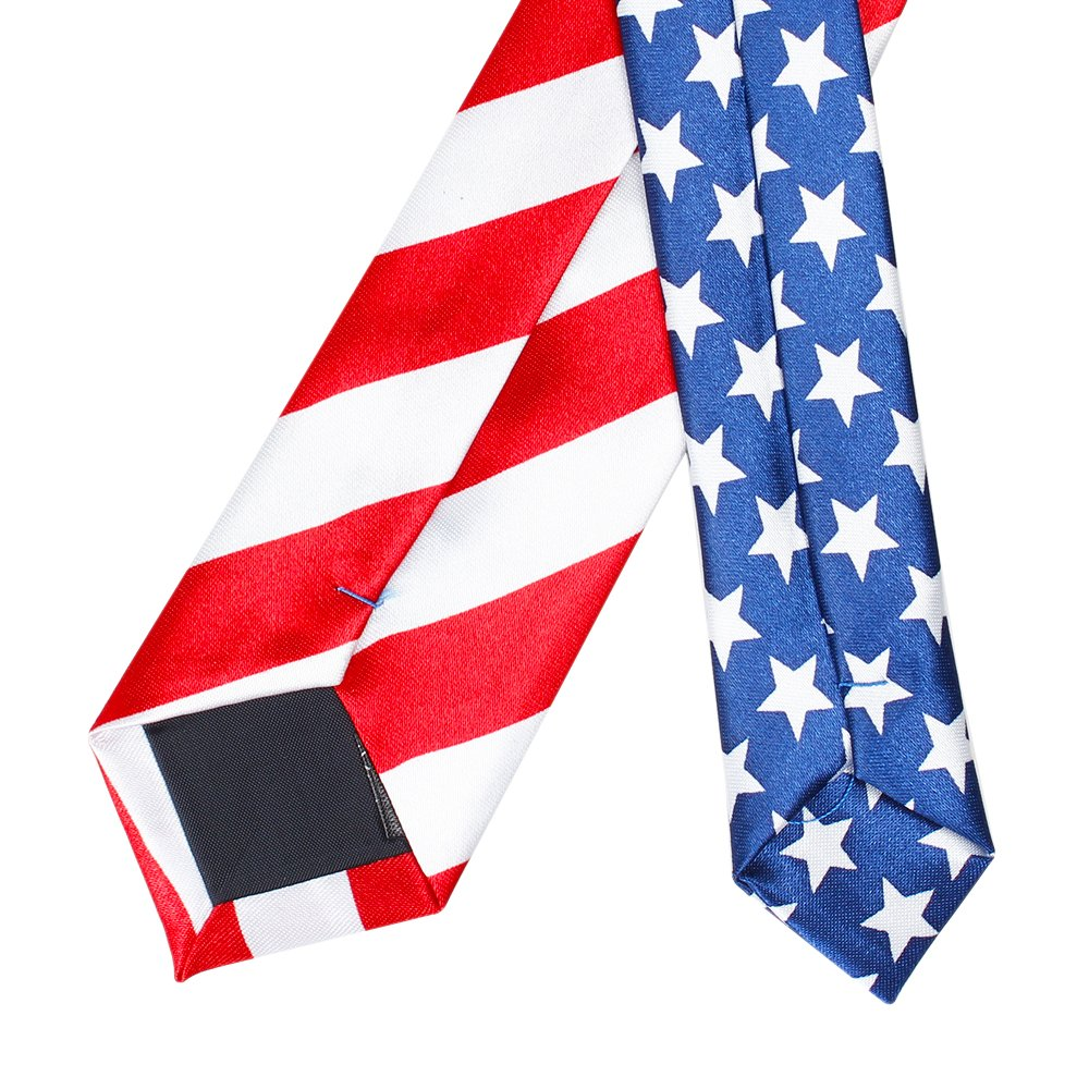 Amzcoice American Flag Necktie USA Flag US Patriotic Neck Tie