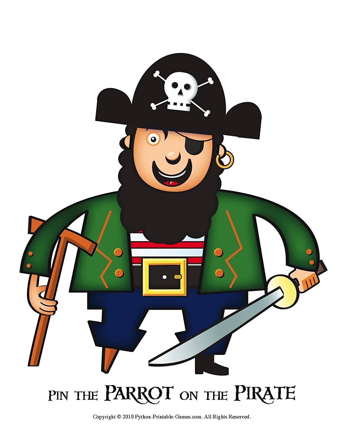 Amazon Printable Pin The Parrot On The Pirate Party Game
