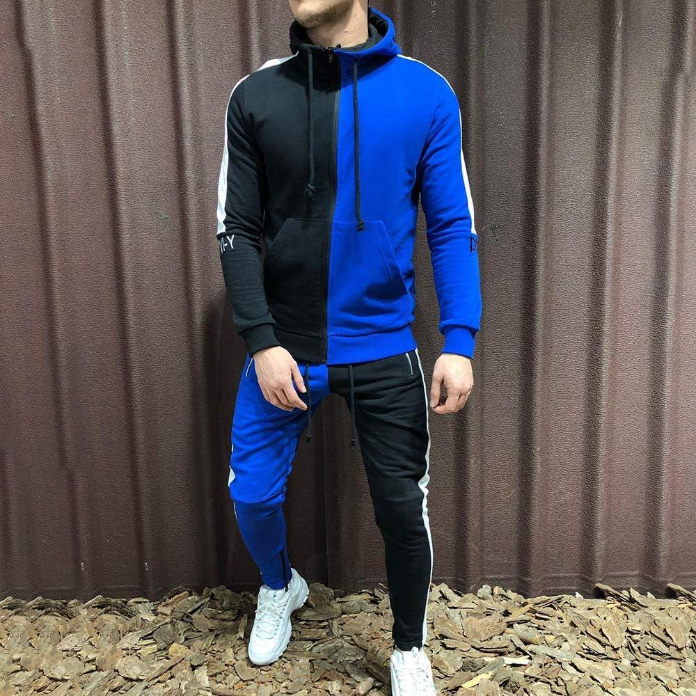 OEAK Surv/êtement Homme Ensemble Pantalon de Sport Sweatshirt /à Capuche Survetement Football Jogging Homme Tenue de Sport 2 Pi/èces Running Loisir