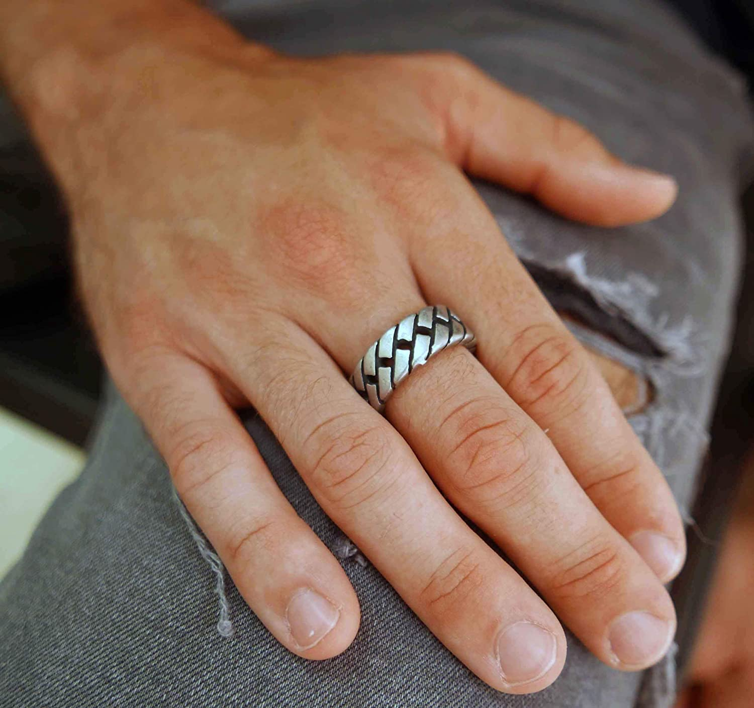 Ring Size US11 Handmade Stainless Steel Ring For Men By Galis Jewelry Silver Ring For Men Jewelry For Men