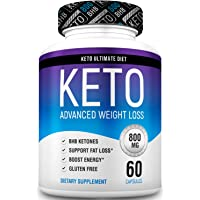 Keto Pills From Shark Tank - Weight Loss Supplements to Burn Fat Fast - Boost Energy and Metabolism - Best Ketosis Supplement for Women and Men - Best Keto Diet - 60 Capsules