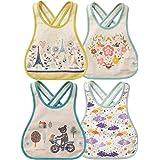 JT-Amigo 4er Set Baby Lätzchen, Baumwolle, Wasserdicht