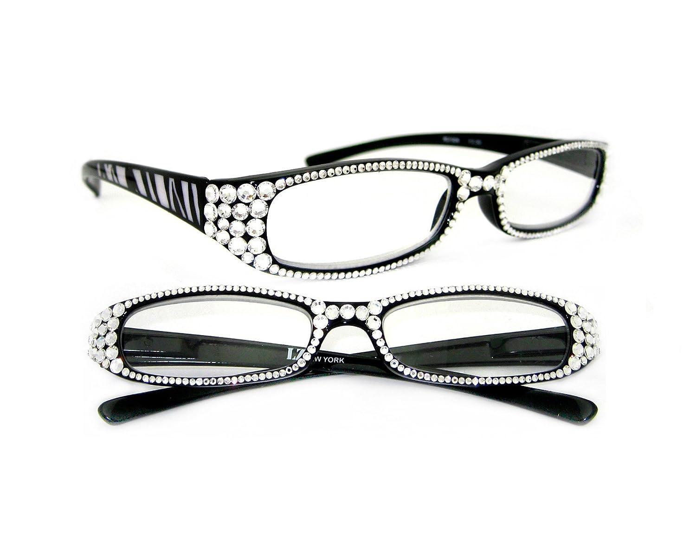 Amazon.com : LZ New York High Quality Zebra Black Frame Women ...