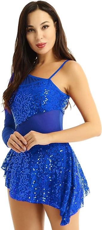 CHICTRY Vestido de Danza Baile para Mujer Encaje Floral Maillot de ...