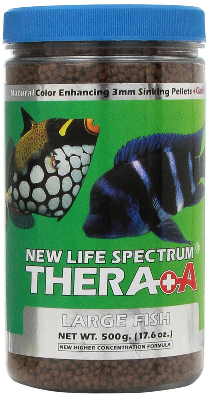 New Life Spectrum Thera-A Large 3mm Sinking Salt/Freshwater Pet Food, 500gm