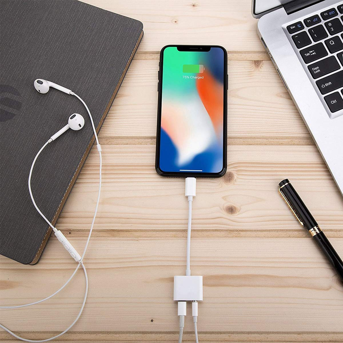 Headphone Adapter Charger for iPhone 3.5mm Jack Adaptor Car Charger with iPhone 8//8Plus for iPhone7//7Plus//X//10//Xs//XSmax Cable AUX Audio Jack Control Headphone Extender Connector Support11 and Higher