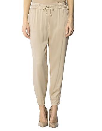 2d46a0abac68bc Joop! Damen Hose Viskose Pant Unifarben, Größe: 38, Farbe: Beige:  Amazon.de: Bekleidung