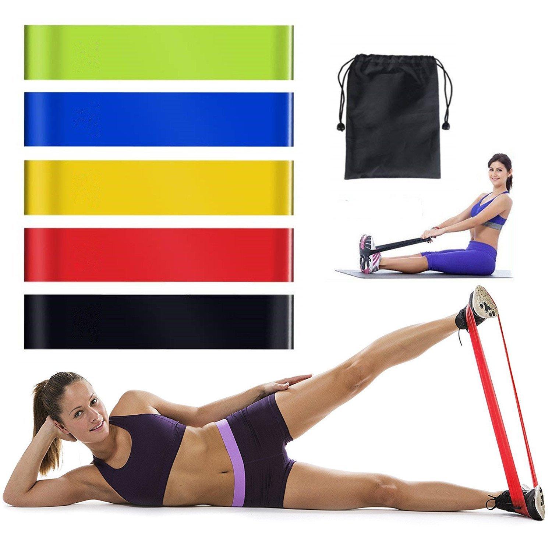 8e0ee8df6c97 Vkaiy Bandes de Resistance Elastiques Musculation Set, Latex Fitness  Exercice Bands Kit avec Ancre de Porte Poignées Sangle de Cheville pour  Fitness Pilates ...