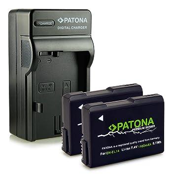Bundle - 4en1 Cargador + 2x Batería EN-EL14 / EN-EL14a para Nikon D3100 | D3200 | D5100 | D5200 | D5300 - Nikon Coolpix P7000 | P7100 | P7700 | P7800 ...