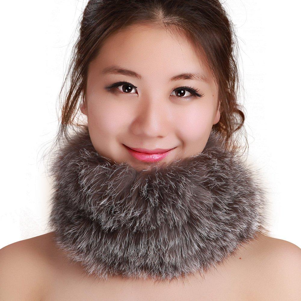 9d584e96c5d40 Amazon.com  FURTALK Winter Fox Fur Hat Headband - Women s Genuine Wrap Cap  Neckwarmer Original (One size