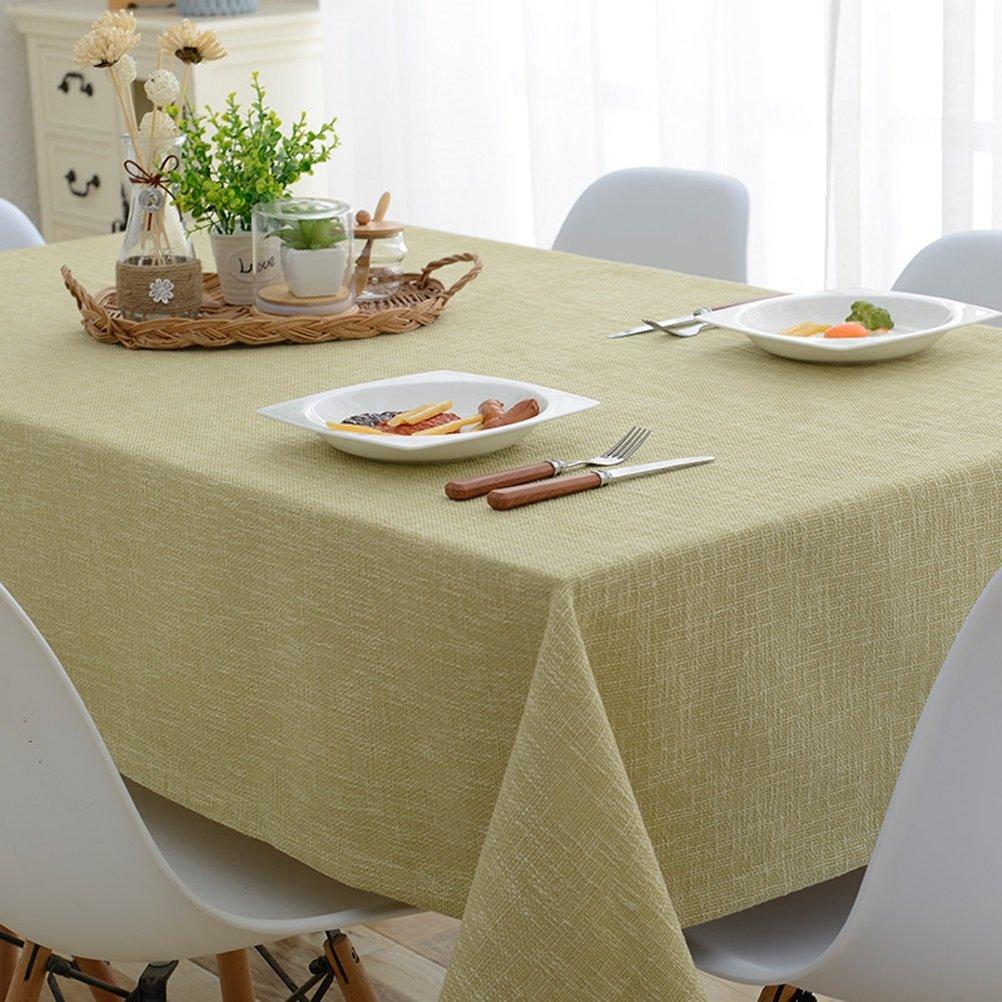 Table cloth :-) Mantel Nórdico Japonés Mantel Color Sólido Cuadrado Algodón Y Mantelería Restaurante Mantel Gris, Verde (Color : Green, Tamaño : 60x60cm)