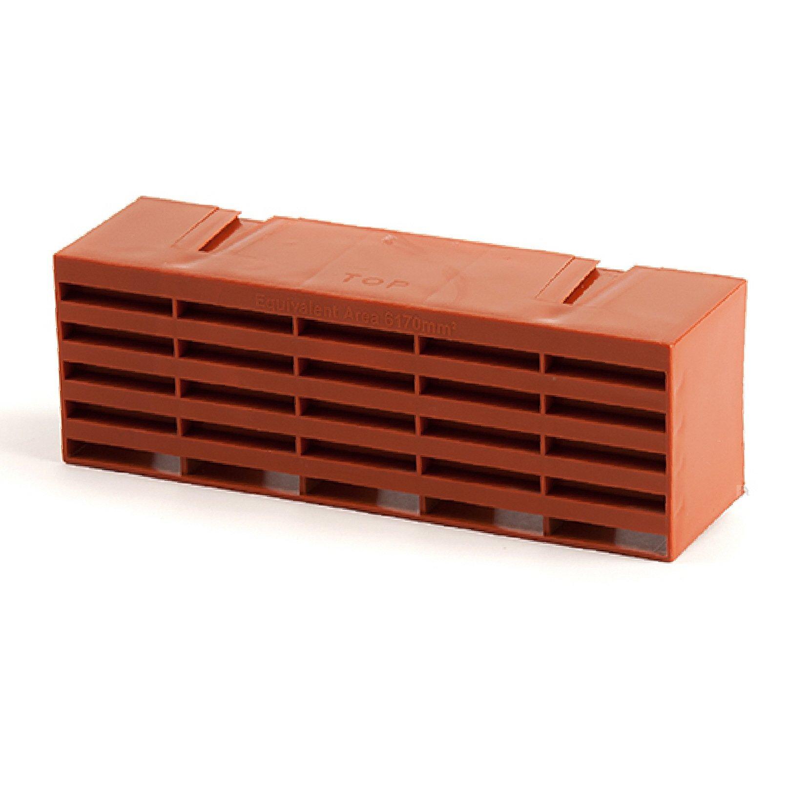5 x Terracotta Air Bricks Vent 9'' x 3'' Airbrick Grille Air Flow Brick Vents Ventilation