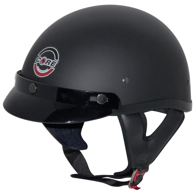 Core Cruiser Shorty Half Helmet (Flat Black, Medium) SHO1106