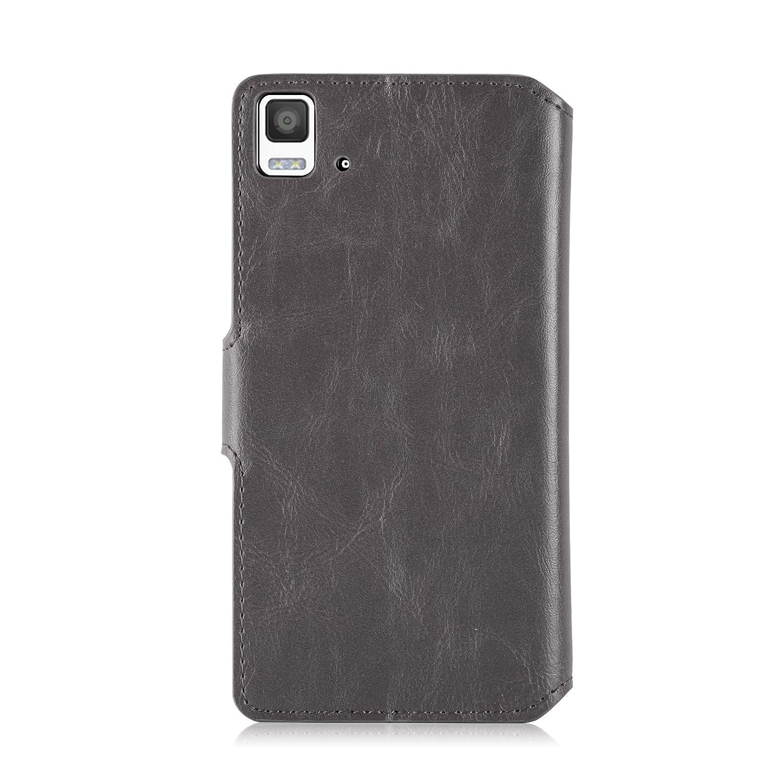 Amazon.com: Aquaris E5 Case - Retro Leather Wallet Flip ...