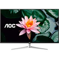 AOC Quad HD 2560x1440 Monitor, 1ms, HDMI/DisplayPort/DVI-D/VGA, VESA Compatible White/Silver 43 inch