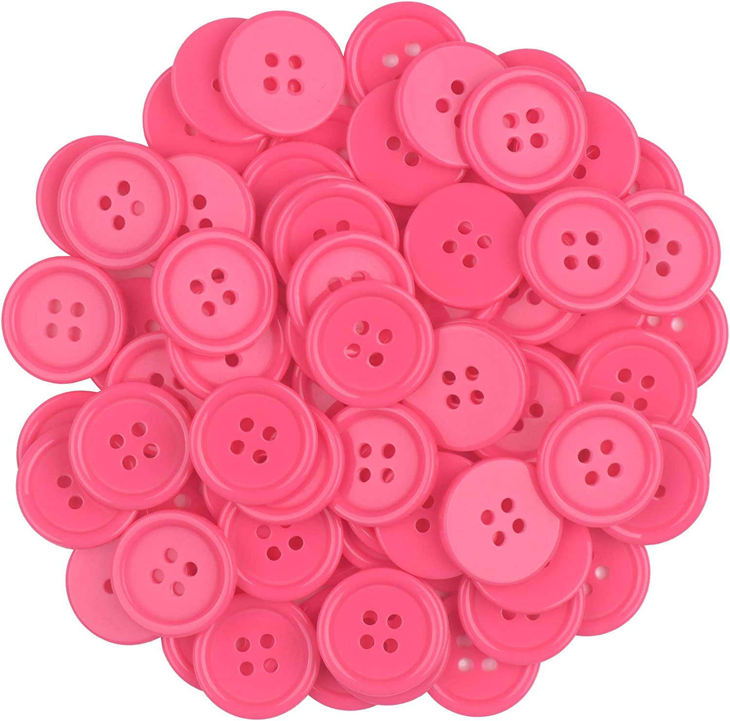 Sewing Resin Buttons Round Shape 4 Holes Craft Buttons for Sewing Scrapbooking and DIY Craft Multicolored 20mm YAKA100Pcs 4//5inch