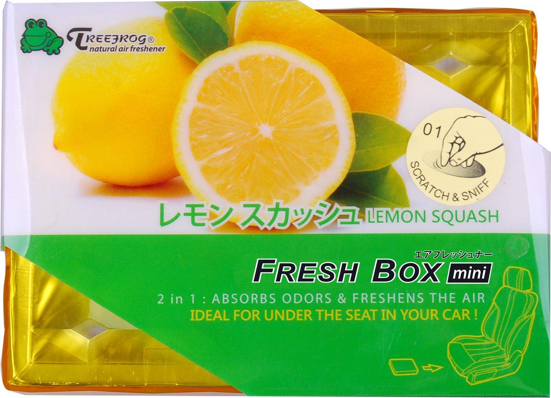 9 Packs TreeFrog FRESH BOX MINI (aka Xtreme Fresh Mini) Lemon Squash Scent Premium JDM Air Freshener by Treefrog Fresh Box Mini (Image #2)