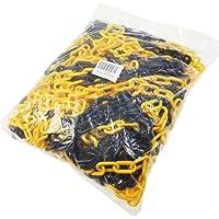 Noir et jaune Barrière Chaîne plastique 5mm 25metres