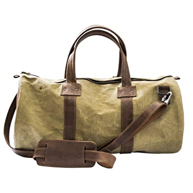 b9e863f12 Image Unavailable. Image not available for. Color: Waterproof Waxed Canvas  Luggage Duffle Bag ...
