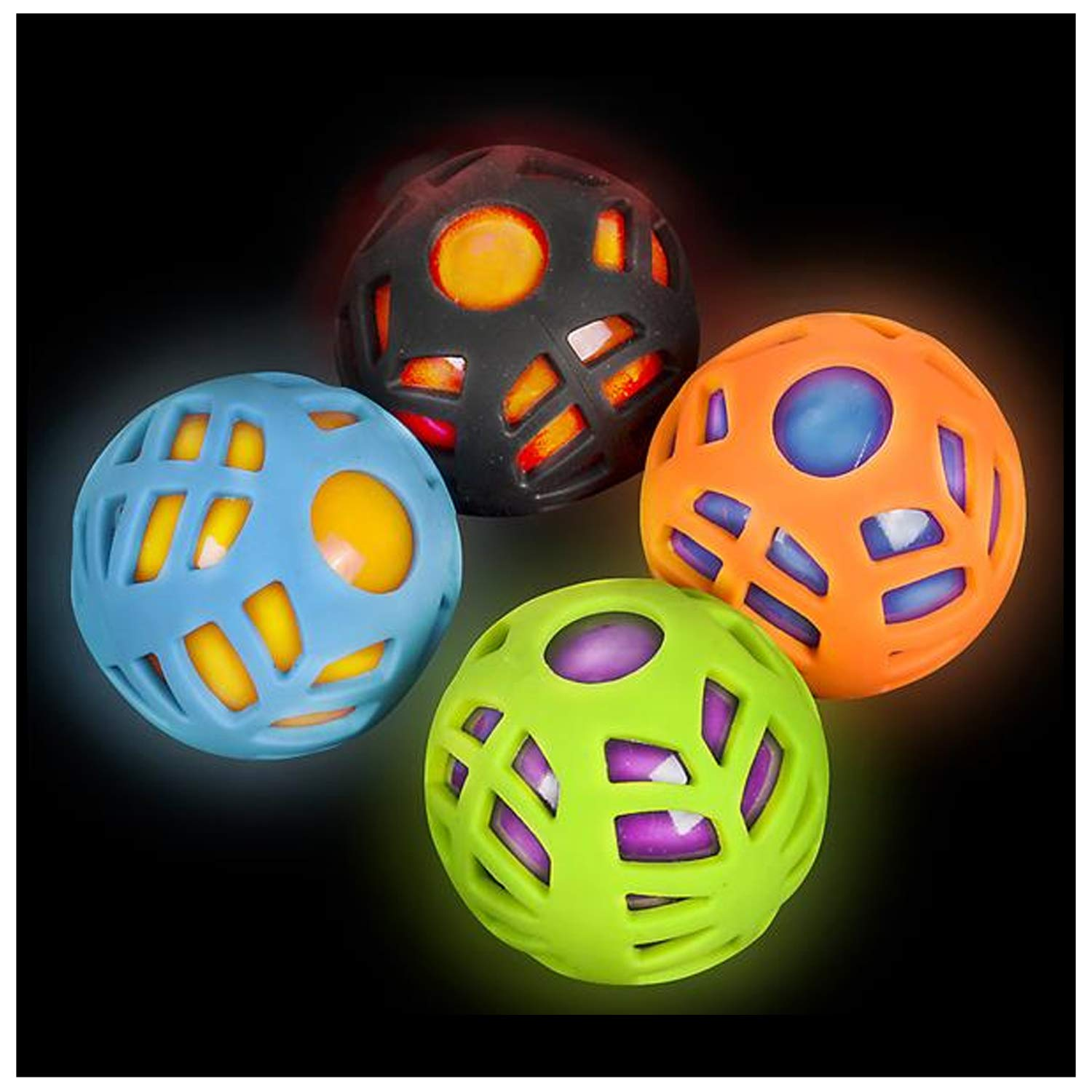 Lumistick 2.5'' Light-Up Sports Ball (Assorted, 50 Pack) by Lumistick (Image #1)