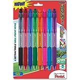 Pentel R.S.V.P. RT Colors New Retractable Ballpoint Pen, Medium Line, Assorted Ink Colors, Pack of 8 (BK93CRBP8M)