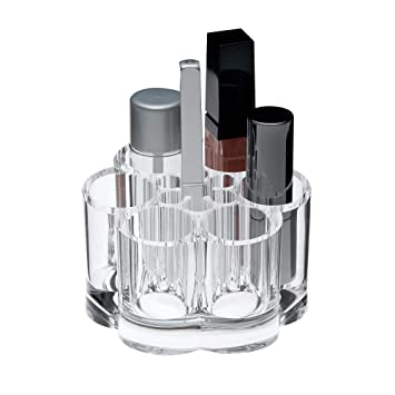 8d7c78f2995f Clear Flower Shaped Lipstick and Brush Organizer: Beauty Tool Holder, 12  Spaces for Lipsticks, Lip Gloss and Mascara, Makeup Display Stand, Cosmetic  ...