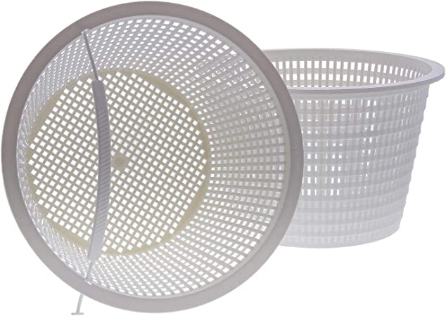 U.S. Pool Supply Swimming Pool Plastic Skimmer Replacement Basket (Set of 2) - Skim Remove Leaves, Bugs and Debris - 8
