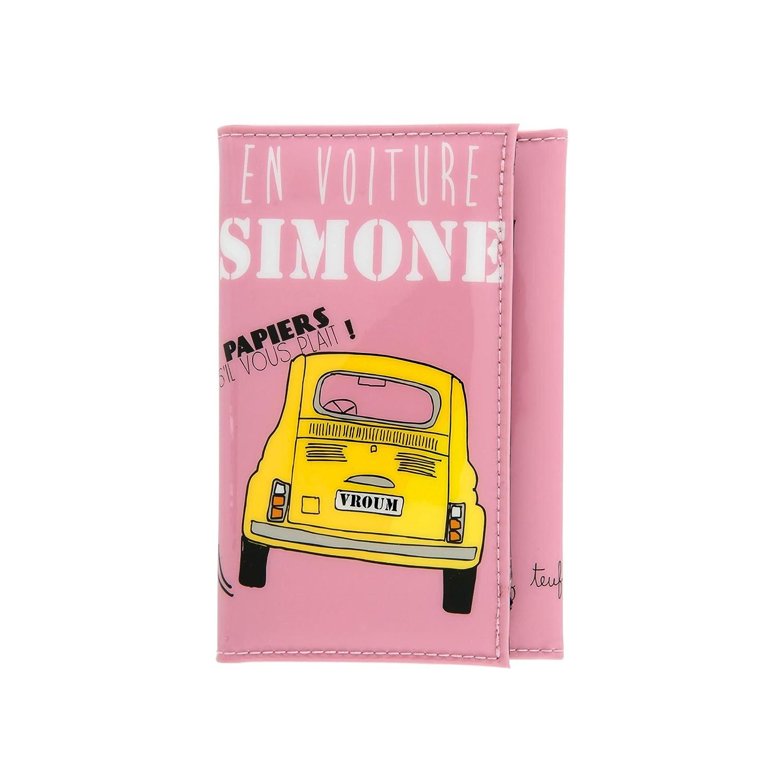 Porte-Papiers de Voiture Humoristique EN VOITURE SIMONE Femme - DLP Derrière  La Porte 7e1469bb68a