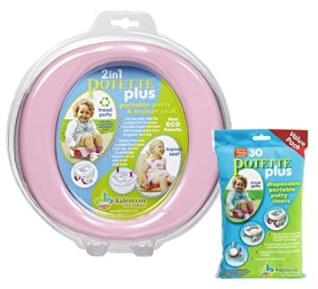 NEW OXO Tot 2in1 Go Potty Baby Toddler Travel Potty Seat w Disposable Bags Aqua